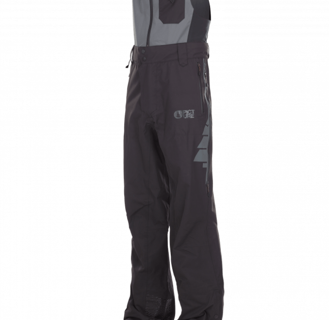 Picture Welcome Bib Pant Black