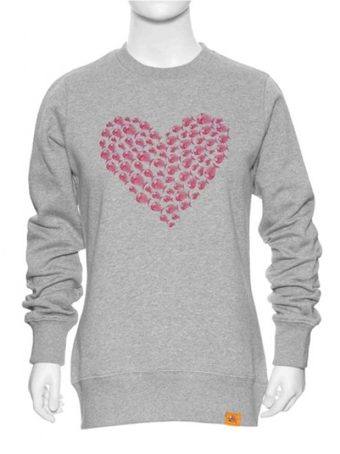 Angry Fish Heart Pull Sweater
